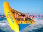 Exciting Inflatable Flying Fish Boat for Entertainment , Easy To Set Up