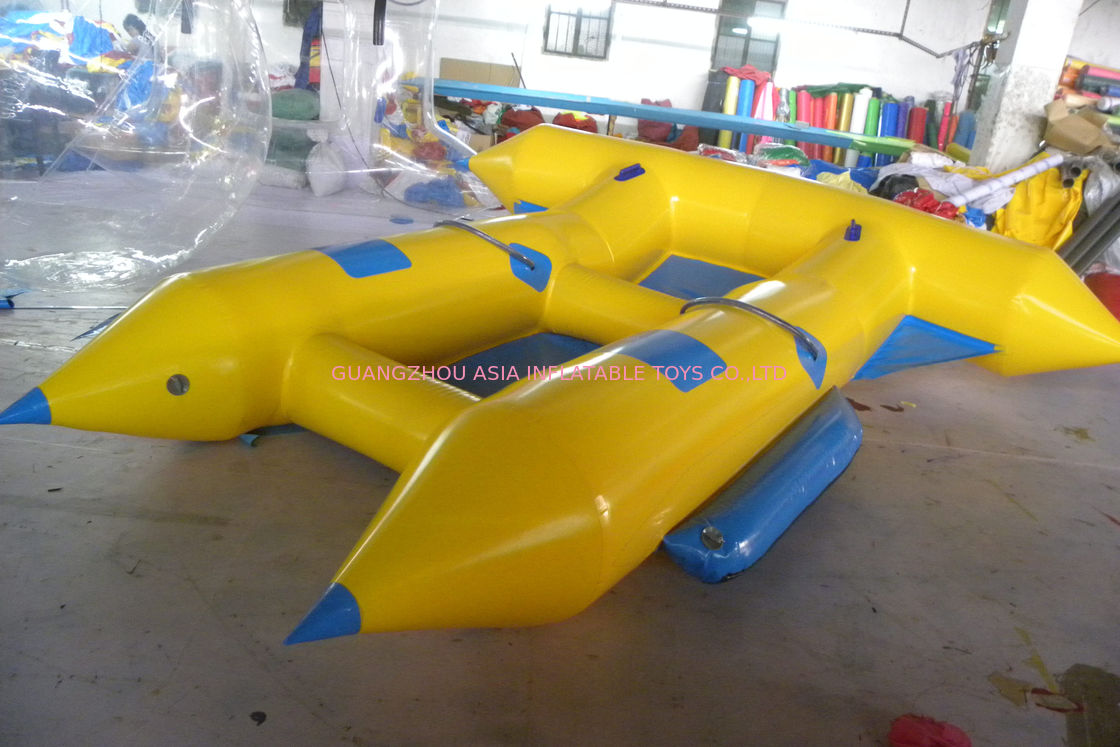 Customize Inflatable Flying Fish Boat for 4 Rides Ocean Adventure Sport dostawca