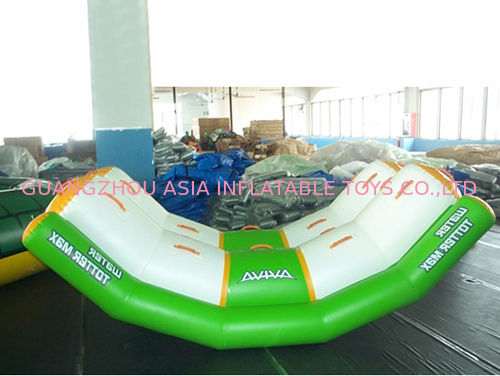 White And Green Totter Board Inflatable Water Sports For Lake , Big Pool dostawca