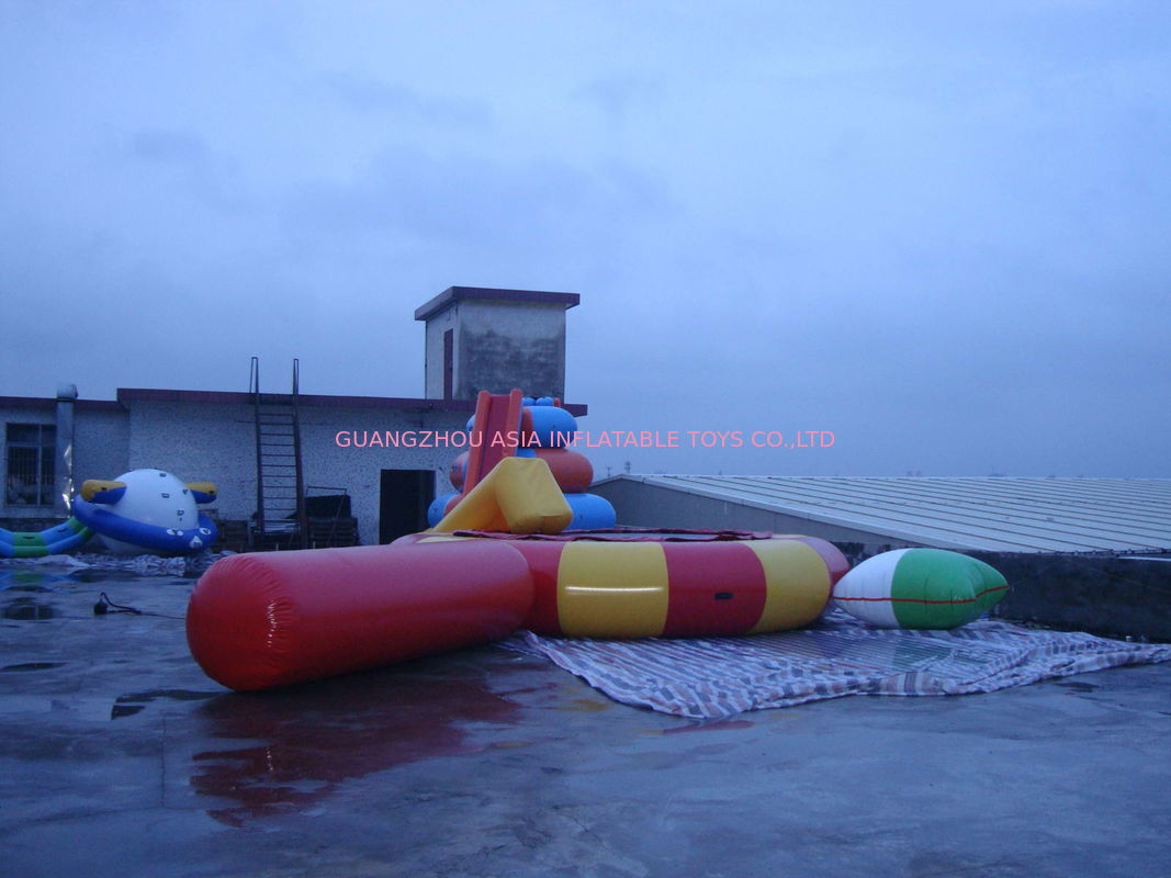 Large Inflatable Water Sports , Aquapark Platinum Rebound Bouncer With I-Log And Slide dostawca