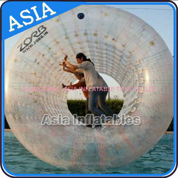 Transparent Human Water Zorbing Rolling Tube