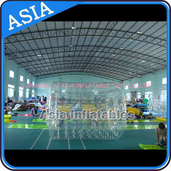 Swimming Pool / Park Transparent Inflatable Water Roller Ball