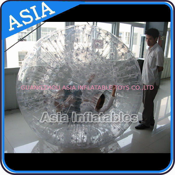 Single Hole Clear Inflatable Grass Zorb Ball In 0.8mm Tpu Used In Grass dostawca
