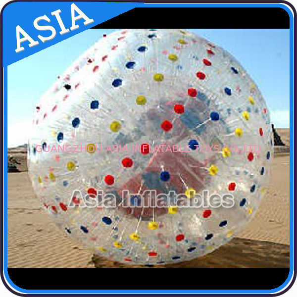 1.0mmTPU Inflatable Clear Zorb Hydro Ball , Color Dots Hydro Ball dostawca
