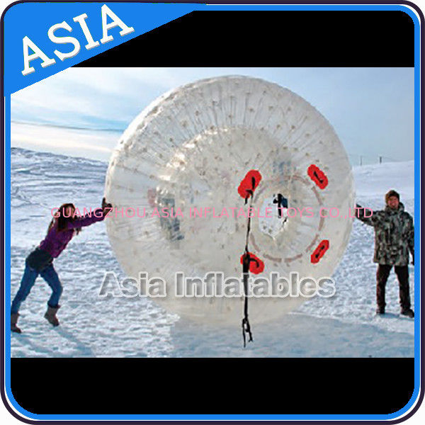 Clear Inflatable Human Hamster Ball ,  Zorb Ball Used On Snow dostawca