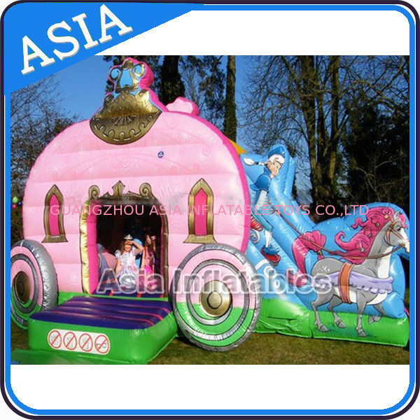 Inflatable Royal Carriage Moonwalk Bouncer For Children Party Hire Games dostawca