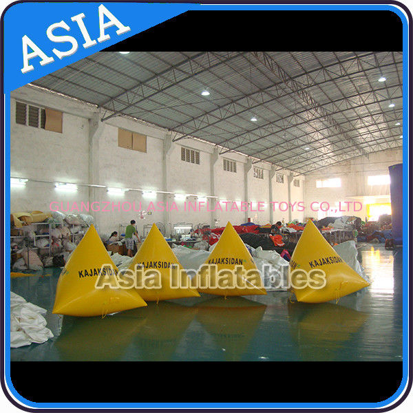 Inflatable Triangular Shape Marker Floating Buoy For Advertising And Water Games dostawca
