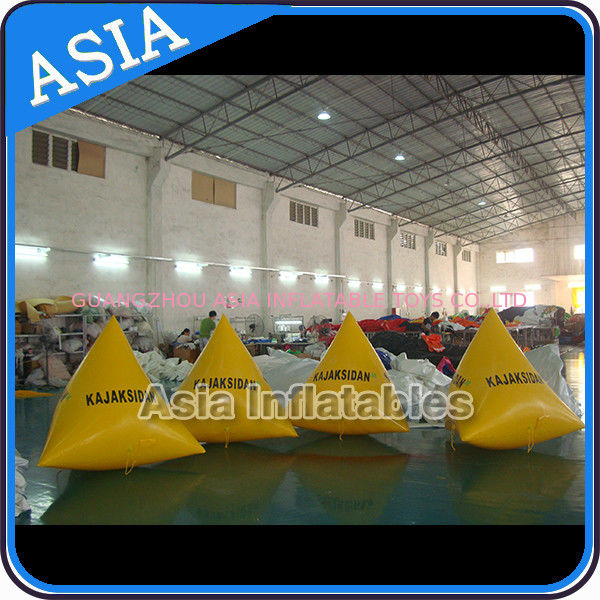 Inflatable Swim Buoys , Triangular Shape Marker Floating For Advertising dostawca