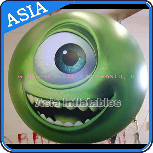 Large Inflatable Helium Balloon with UV protected printing , Sphere with Eyes Logo dostawca