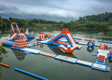 0.6 - 0.9mm PVC Inflatable Floating Water Park With Printing Logo